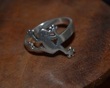 Sterling Silver Frog or Toad Ring, 925 Thailand, SZ 7