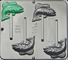 Bass Fish Lollipop Chocolate Candy Mold  3335 NEW