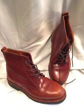 French/Spanish 5 Short Boots NWOB Wide Conker Brown Thick Leather Riding Perfect