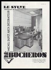 Publicité Au Bucheron Design Art Deco  vintage print ad 1931 -2h