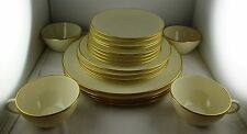 4 Lenox China Olympia Gold 5-Piece Place Settings - Excellent - Made In USA