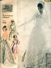 Vintage 60's VOGUE COUTURIER RONALD PATERSON 1156 WEDDING DRESS - Sewing Pattern