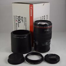Canon EF100mm F2.8 L IS USM Macro DSLR Lens [ Excellent++++! ]