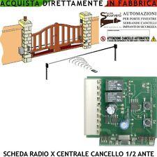 RadioScheda Centrale Cancello Automatico 1/2 Ante Battenti PM-8000 CTR17 SS-PM8