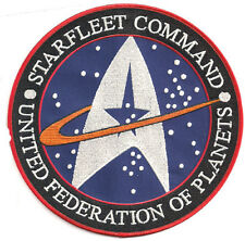 "STAR TREK Starfleet Command Logo 4"" Embroidered Patch-FREE S&H  (STPA-SFC-01)"