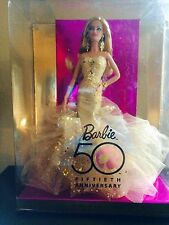Barbie 59th Anniversary Gold Gown NRFB Doll By Robert Best