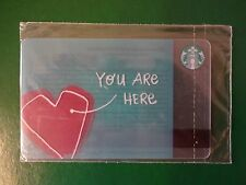 NEW CARD HEART!  RUSSIA, STARBUCKS RUSSIAN CHRISTMAS CARDS,2016,SEALED