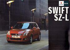Suzuki Swift SZ-L 1.3 Limited Edition 2009 UK Market Sales Brochure