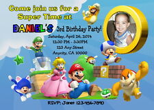 SUPER MARIO 3D LAND CUSTOM BIRTHDAY PARTY INVITATION & FREE TY CARD PRINTABLE