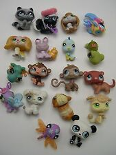 Littlest Pet Shop lot of 18 different animals Poodle Skunk Hermit Crab Angelfish