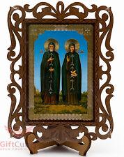 St Peter and Fevronia Святые Пётр и Феврония Russian Orthodox Icon Wood