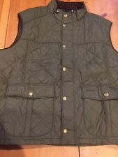 Men Barbour Down Explorer Quilted Vest New With Tags Olive XXL