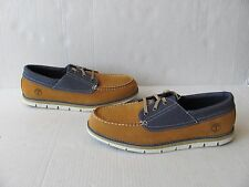 Timberland  Men's Harborside Oxford Wheat Nubuck/Denim. Size 8