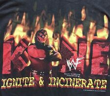 WWF Kane T-Shirt Ignite and Incinerate WWE Masked 1999 Shirt XL Extra Large