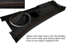 ORANGE STITCH CENTRE CONSOLE & GEAR GAITER SKIN COVERS FITS MAZDA MX5 MK3 05-13