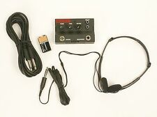 Guitar Headphone Practice Amplifier Duracell 9v Battery Headset & 10' Cable