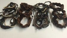12 Leather Bracelet Asst Bead Wholesale Party Favor USA SELLER ADJUSTABLE