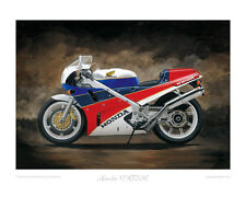 Motorcycle Limited Edition Print - Honda VFR750R RC30