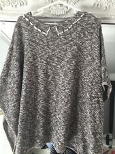 Zara Poncho Style Grey Marl Knitwear Top new Without Tags Size Medium