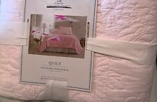 Simply Shabby Chic Pink Rose Stitched King Quilt Only NWT Girls