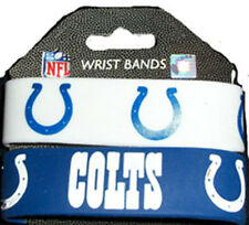INDIANAPOLIS COLTS SILICONE WRIST BANDS BRACELETS NEW 2 PACK