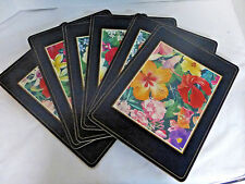 Pimpernel Caribbean Flowers Collection Set of 6 Corkboard Back Placemats 12 x 9