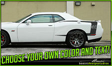 Dodge Challenger Cuda Style Hockey C Stripes 2010 2011 2012 2013 2014 2015 2016