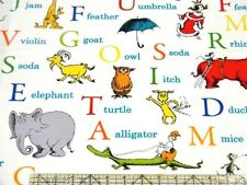 Dr Seuss ABC Alphabet Adventure White Fabric