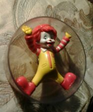 Ronald McDonald Toy in Acrylic Plastic Clear Circle 2007