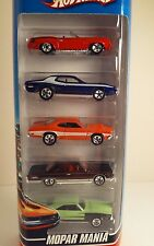 HOT WHEELS MOPAR MANIA 5 PACK SET MINT IN BOX FROM 2009 NEW FACTORY SEALED!