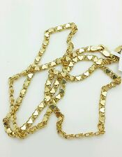 """14k Solid Yellow Gold Heart Link Necklace Pendant Chain 18"""" 2.9mm"""