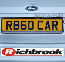 Richbrook Official Ford ABS Plastic Number Plate Clip On Surround Holder