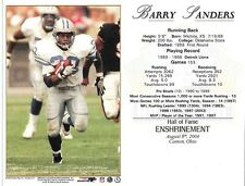 "Barry Sanders - Detroit Lions  Hall of Fame Induction 8"" x 10"" Supercard"