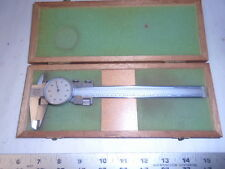 MACHINIST TOOL LATHE MILL Machinist Helios Dial Caliper Gage Gauge in Case