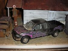 1/24 1/25 Custom 1990's Ford F-150 Ext. Cab Pickup Truck Black for parts restore