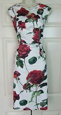 PHASE EIGHT ASHA ROSE FLORAL PRINT STRETCH PARTY DRESS SIZE 16 BNWT RRP £120