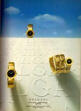 1987 Bvlgari Bulgari Watch Jewellery Print Ad Advertisement Vintage VTG 80s