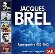 JACQUES BREL Retrospective 1953 - 1962  5CD  beat pop