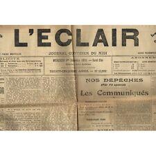 L'ÉCLAIR 1er-12-1915 Appel FÉLIBRE Escola dau Parage de MOUNT-PELIÉ e de L'ÉRAU