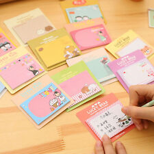 2 Paper Cartoon Hardcover Memo Pad Post It Notepad Sticky Notes Office Stationer