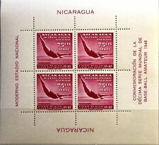 Nicaragua 1949 blocco 23 S/S c305 Diving immersioni WATER SPORT SPORTS MNH