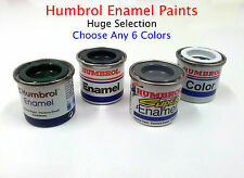 Humbrol Enamel Paints Lot  Choose any 60 Tinlets/Tins 14ml  (Huge Selection)