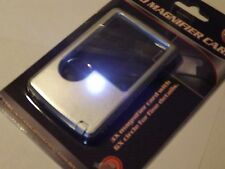 Credit Card Pocket Magnifier with LED Light 3x & 6x Polycarbonate Lens