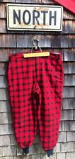 Vintage L.L. Bean Quilted Red Plaid Hunting Fishing Pants Size 42 Made in the US