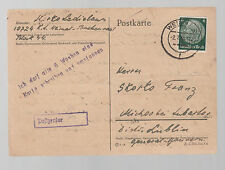 1943 Germany Buchenwald Concentration Camp Postcard Cover to Lublin Poland
