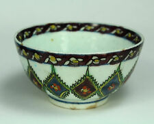 *16th c.Iznik Ottoman Imitation of Chinese Porcelain Tea Cup, Polychrome Enamels