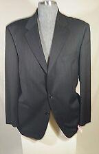 HUGO BOSS EINSTEIN SIGMA USA Gray Thin Red PINSTRIPE Suit 44R/38W-30L