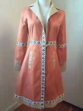 Vintage MAX MARA Women's Peach Cashmere Blend Trench Style Coat Sz 4 US