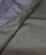 CHARCOAL & NAVY CASHMERE REVERSIBLE FABRIC BEAUTIFUL HANDLING CLOTH COL 3