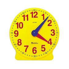 Geared Large Demonstration Classroom Teaching Aid Learning Clock Learn Time